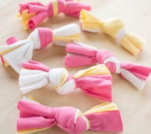 knotted tshirt toys